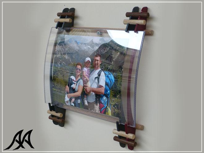 Portafoto da parete verticale o orizzontale arte acciaio - Portafoto multipli da parete ...