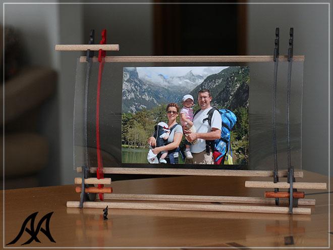 Portafoto da tavolo verticale e orizzontale arteacciaio for Portafoto verticale da parete