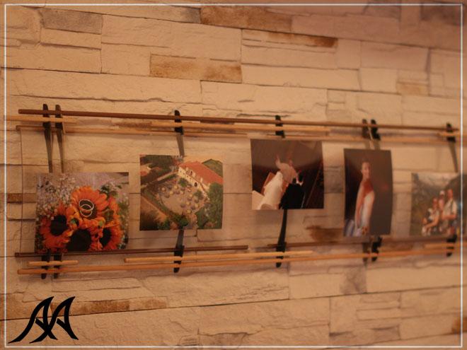 Portafoto da 1 5 mt arte acciaio ita - Portafoto multipli da parete ...