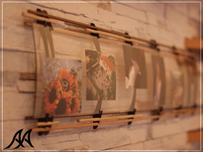 Portafoto da 1 5 mt arte acciaio ita for Portafoto parete