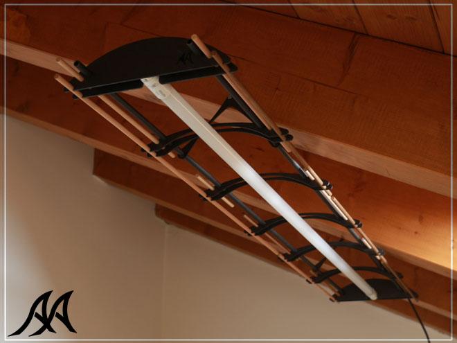 Lampada da soffitto arredo arteacciaio intrecci for Lampadario legno moderno