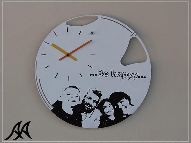 01 Orologio da parete con foto