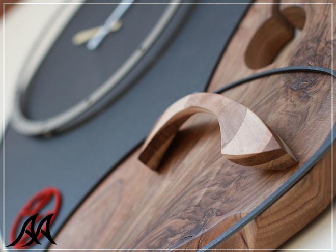 04 Orologio da parete legno ferro